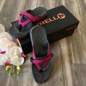c832395d2600c Merrell Shoes - Merrell Siren Flip Flop Sandal Shoe Pink Burgundy